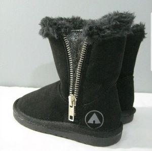 New Junior Girls Airwalk Black Boots